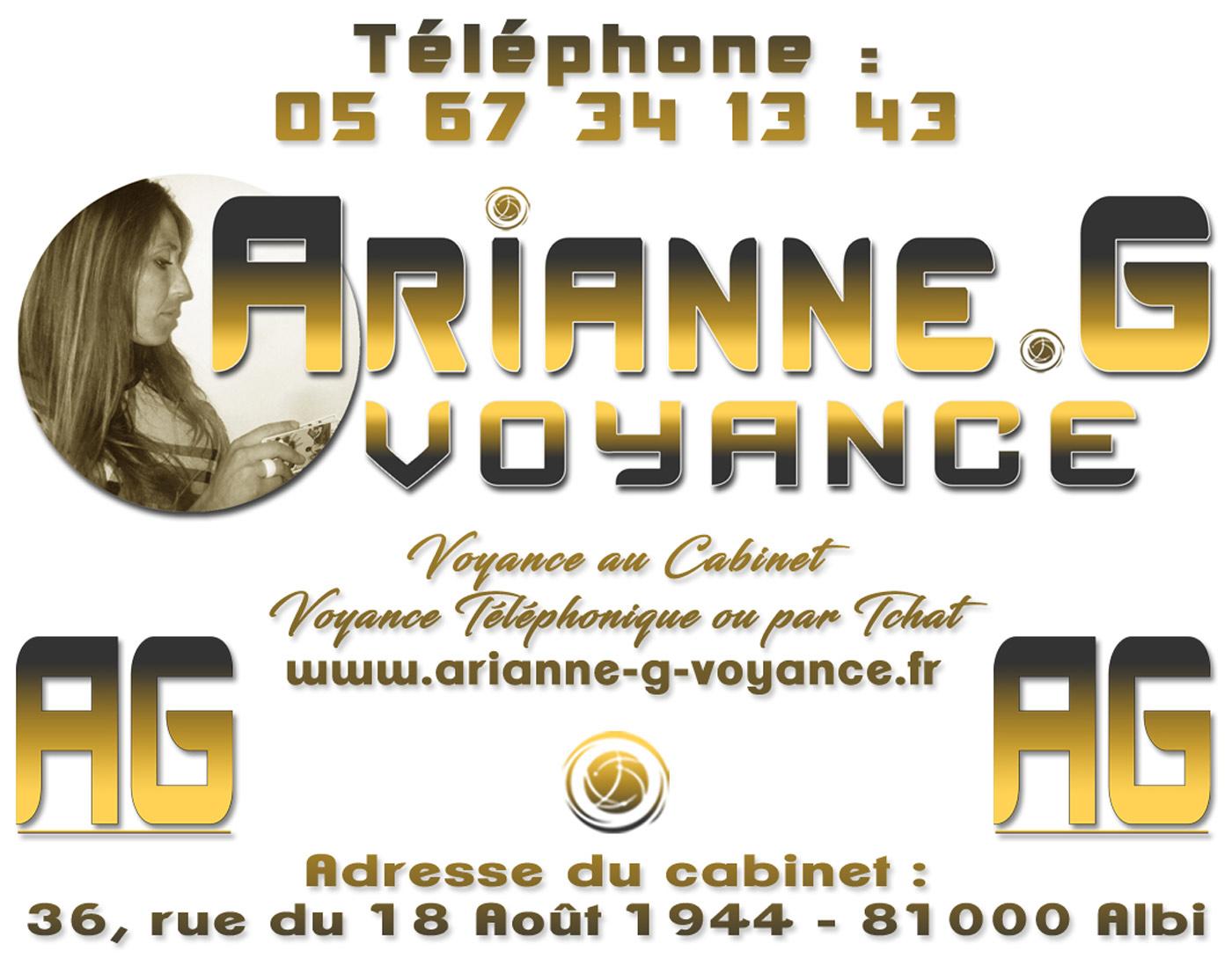 Affiche Arianne .G Voyance